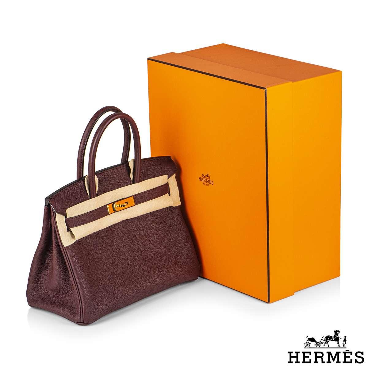 Hermès Birkin 30 Togo Bordeaux GHW